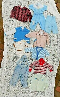 TEN VINTAGE 1950'S - 60'S PIECE BABY TODDLER BOY or DOLL CLOTHES