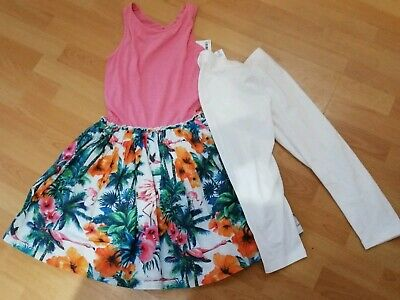 BNWT Next Girls Summer Outfit - Dress & Leggings Set - 12 Years