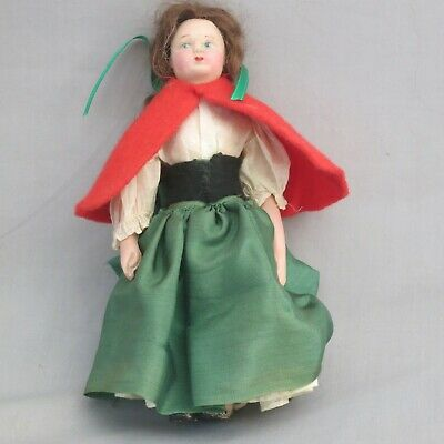 Antique 21cm Chad Valley Character Doll Red Riding Hood