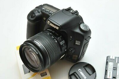Canon EOS 30D Body Black Digital Camera With EF 18-55mm IS II Lens