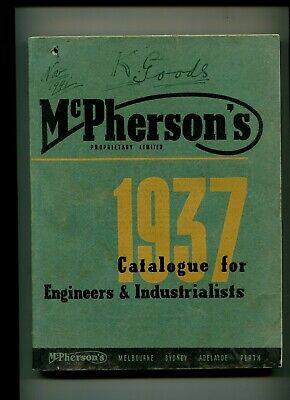 McPherson's Engineer Industrial Catalogue 1937  356 pages
