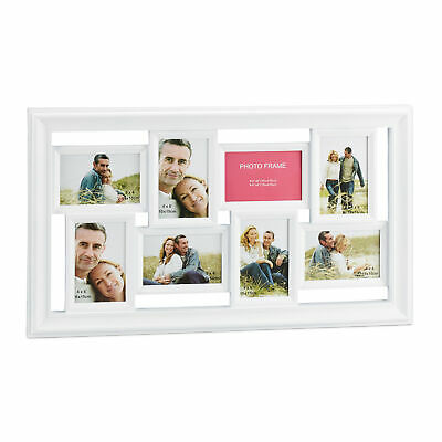 Picture Frame 8 Photos Collage Gallery Frame Wall Mount Hanging Vintage
