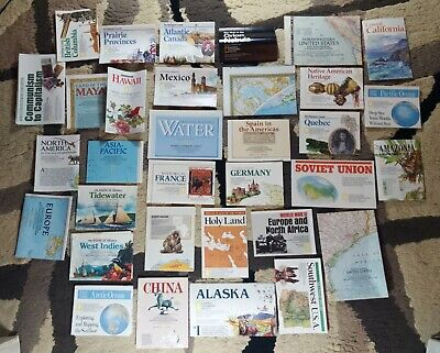 VINTAGE LOT OF 31 NATIONAL GEOGRAPHIC MAPS FROM 1990s, 1980, Lot Of 33