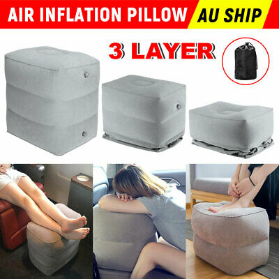 Foot Rest Inflatable travel pillow pad Plane Train Travel Kids Pillow Cushion