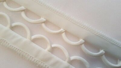 Ivory duchess satin corset kit, loops only