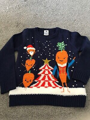 Aldi Kevin the Carrot 2019 Official Children's Christmas Jumper 7-8 Years Circus