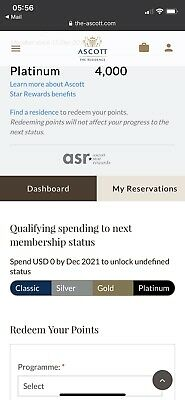 Ascott Platinum Member For 2 years - Limit Time Offer