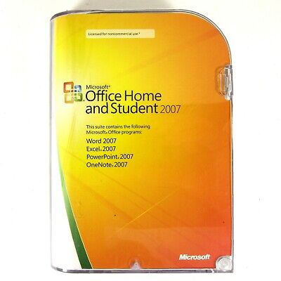 Microsoft Office Home and Student 2007 Genuine Retail Version Original MSRP $149
