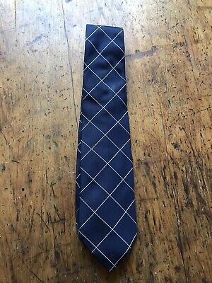 T.M.Lewin Mens Royal Blue And White Tie New Without Tags