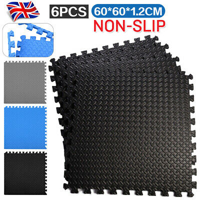 Gym Flooring Mats | Interlocking Puzzle Exercise Mat | Protective EVA Foam Tiles