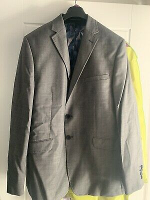 Ted Baker Endurance Grey Two Button Suit - 44 R / 34R - Mens - 3 Piece
