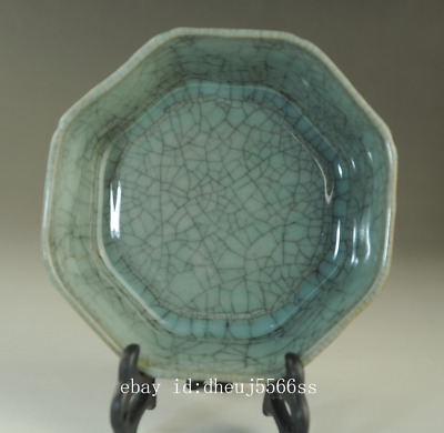Old chinese natural cracked glaze Longquan cyan porcelain brush washer /Db01J