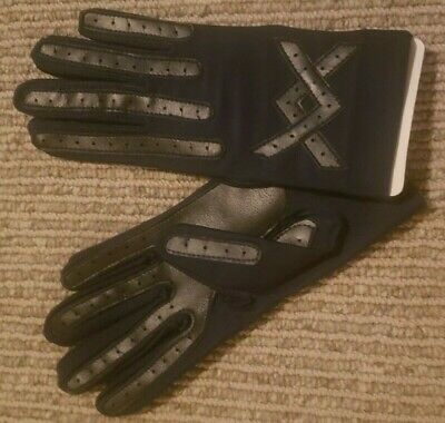 Vintage Ladies Isotoner Thinsulate Navy Blue Gloves 85/15 Taiwan Never Worn