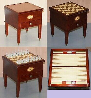 Lovely Small Games Table Metamorphic Chess Backgammon Board Sliding Top