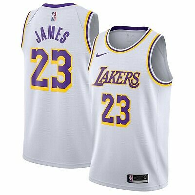 MAILLOT NBA LEBRON James Nike Lakers (taille L) neuf EUR