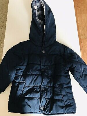 Baby Boy Navy Quilted Coat 6-9 Months