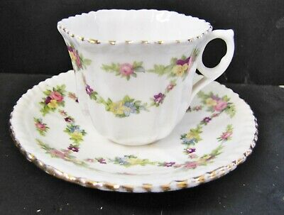 2 Small Victorian TEA CUPS & SAUCERS Early Thomas Forester Ltd /Phoenix China