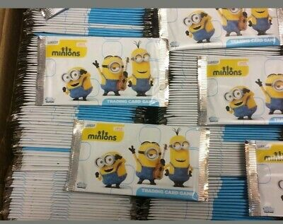 100 x minion trading cards party bag fillers