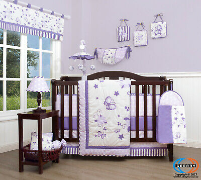 13PCS  New Lavender  Baby Nursery Crib Bedding Sets  Holiday Special
