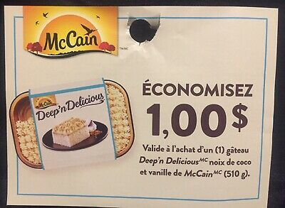 Lot of 10 x 1.00$ McCain Products Coupons Canada