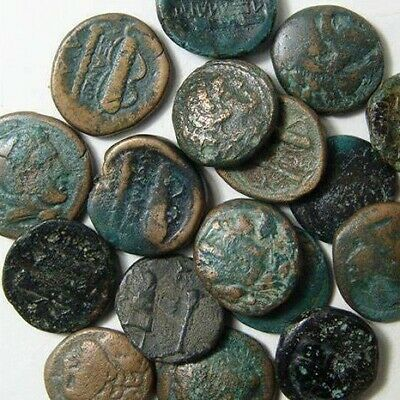 One Ancient Greek Bronze Quality Authentic Coin - 2000+ Years Old