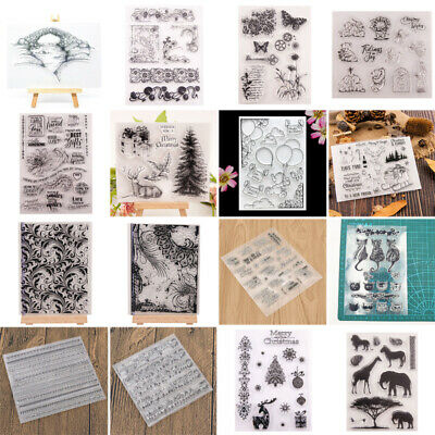 Clear Stamps Christmas Transparent Rubber Stamp Scrapbooking Stencil Album Craft