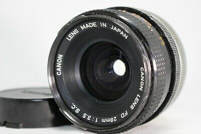 Canon FD 28mm f/3.5 S.C. Lens *As Is* #M013e