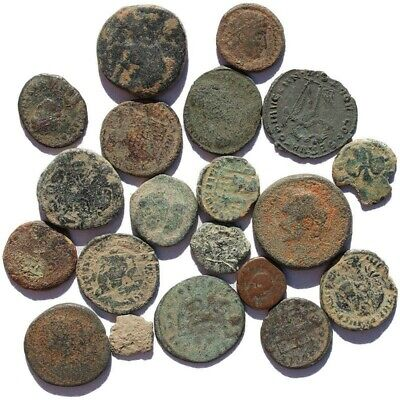 One Authentic Uncleaned Ancient Roman Empire Bronze Coin-Huge Bulk Discounts