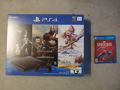 Sony PlayStation 4 Slim 1TB Only on PlayStation Console Bundle + Spider-Man Game