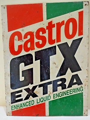 Castrol Vintage Advertising Tin Sign GTX Extra Motor Oil Gasoline Collectibl 4#F