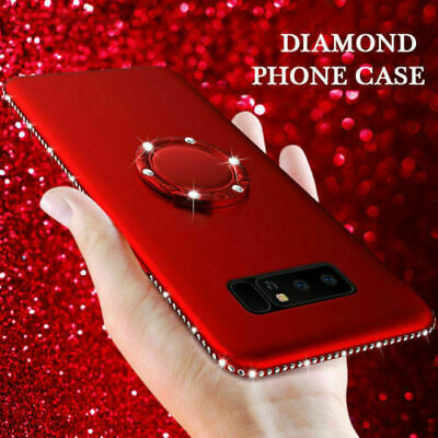 For Samsung Galaxy Note 10 Plus S10 S8 Bling Diamond Case With Ring Holder Cover