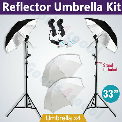 Photography 1350W Soft Reflective Umbrellas Continuous Lighting Light Stand Kit