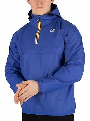 K WAY LE VRAI LEON Men's Rain Jacket BLUE 6 XSMALL NEW