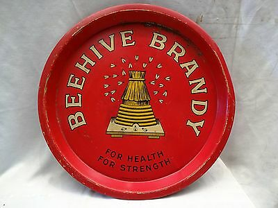 Vintage Advertising Tray Of Behave Brandy For Health And Strength Collectibles