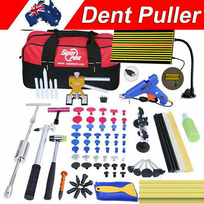 PDR Tools Dent Puller Lifter Paintless Hail Removal LED Line Board Repair set AU