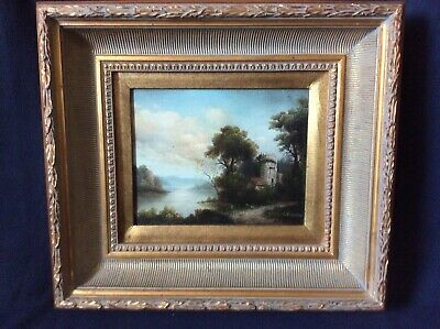 19th Century Antique Oil Painting Signed