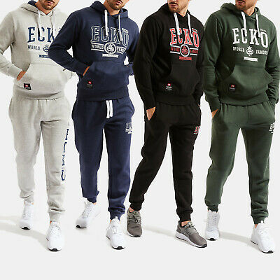 Ecko Unltd Fleece Men's Tracksuit Jogging Suit Hoodie Streetwear 4 Colors