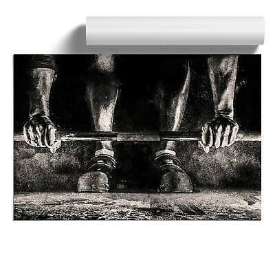 Body Building Weights Wall Art Poster Print