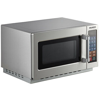 Solwave 1000W Stackable Commercial Microwave with Large 1.2 cu. ft.