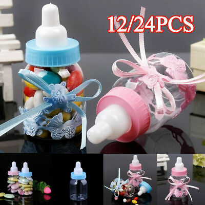 12/24X Fillable Bottles Candy Box Baby Shower Baptism Party Favour Christening