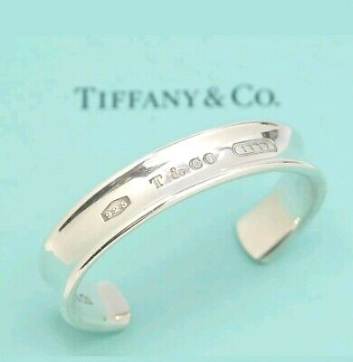 Authentic Tiffany & Co Sterling Silver 1837 Cuff Bracelet