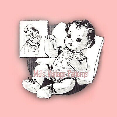Vintage Life Sized Baby Doll Pattern ~ 1940s Cloth Stuffed Toy