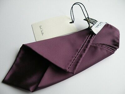 New Paul Smith Purple Silk Pocket Square Pochette Handkerchief Made In Italy