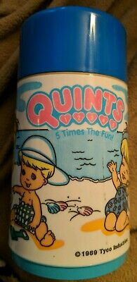 Vintage 1989 Quints 5 Times the Fun Aladdin Lunchbox Thermos Mug TYCO Very Rare