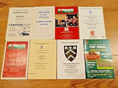 Rugby Union Cup Final Programmes 1977 - 2008