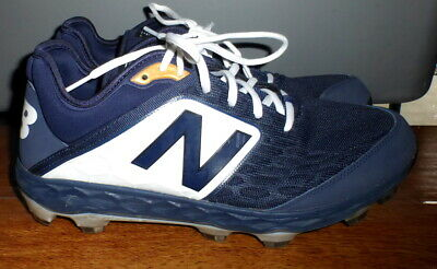 Mens New Balance Pl3000N4 Navy / White Molded Baseball Cleats Shoes Size 12 D