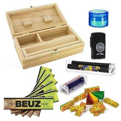 Pack Ultime Roll Tray Spliff Box Ultimate T2 avec Feuilles Slim Rouleuse Carton