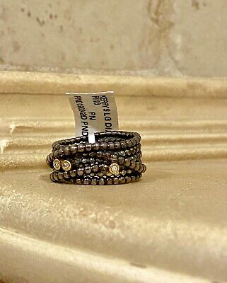Pandora ALE Entangled Beauty Sterling Silver 925 14k Gold Diamond Ring NWT $190!