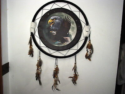 AA DREAMCATCHER INDIAN WITH A PICTURE OF THREE EAGLES EAGLE