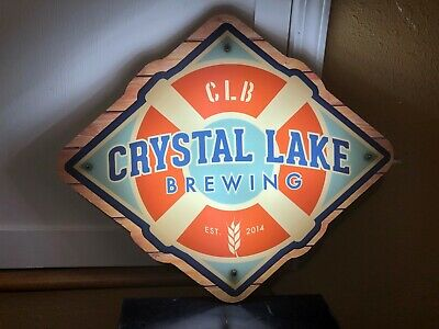 Crystal Lake Brewing Led Beer Bar Sign Man Cave Garage Light Clb Brewery